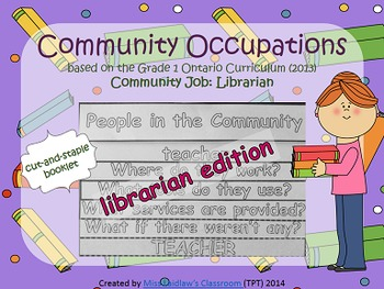 Social Studies: Community Occupations Booklet - Librarian