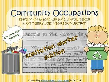 Social Studies: Community Occupations Booklet - Sanitation