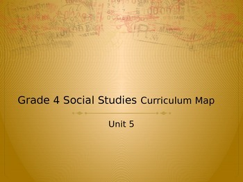 Social Studies Curriculum Map Unit 5 NY Grade 4