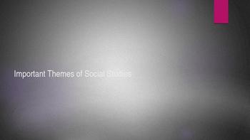 Social Studies Enduring Themes