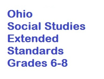 """Social Studies Extended Standards """"I Can"""" Statements"""
