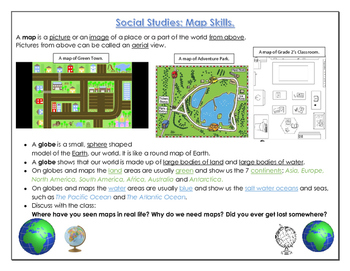 Social Studies / Geography: Map Reading Skills, The Compas