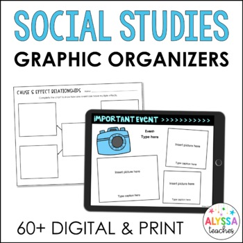 Social Studies Graphic Organizers for Google Drive