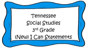 Social Studies I Can Statements - Tennessee (NEW) Blue Bor