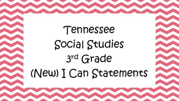 Social Studies I Can Statements - Tennessee (NEW) Pink Che