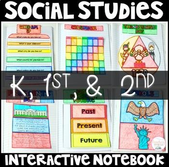 Social Studies Interactive Notebook for K through 2nd grad