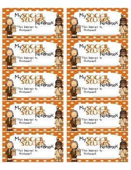 Social Studies Interactive Notebook Labels