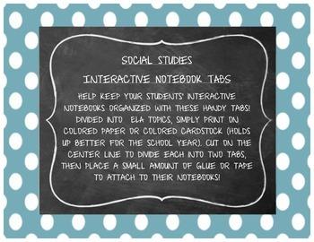 Social Studies Interactive Notebook Tabs