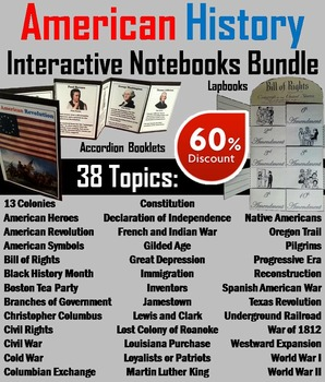 US History Unit: Colonial America, American Revolution, Ci