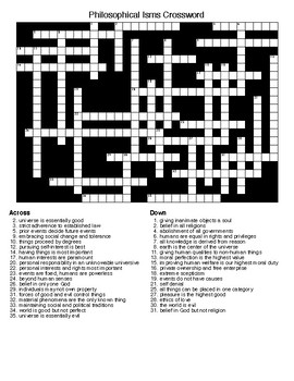 """Social Studies """"Isms""""  Crosswords and Word Searches"""