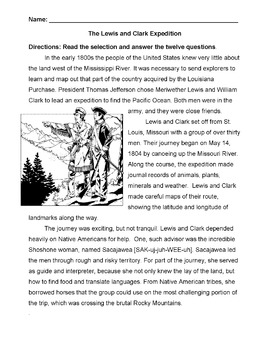 History Social Studies LEWIS and CLARK EXPEDITION info 12