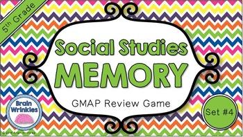 Social Studies Memory - 5th Grade GMAP Review (Set 4 of 4)