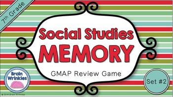 Social Studies Memory - 7th Grade GMAP Review (Set 2 of 4)