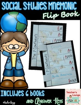 Social Studies Mnemonic Flip Book Pages