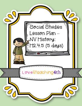 Social Studies/NV History - Lesson Plans (5 days)