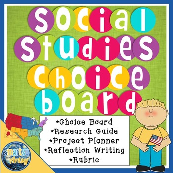 Social Studies Project Choice Board Packet with Research G