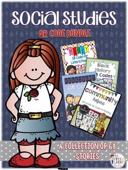 Social Studies QR Code Bundle: 68 Stories For Daily Five L