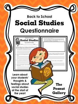 Social Studies Questionnaire (Back to School)