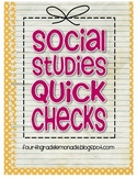 Social Studies Quick Check Cards (for Virginia Studies)