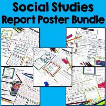 Social Studies Report Poster Bundle