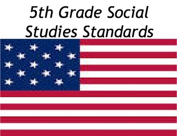 Social Studies Standards 5th grade
