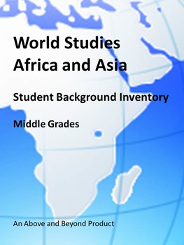 Social Studies Student Inventory Africa and Asia - First W