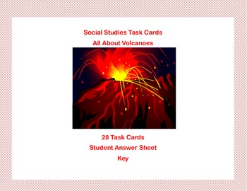 Task Cards-All About Volcanoes