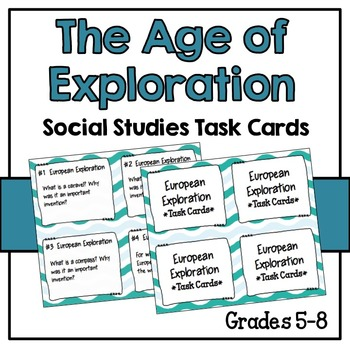 Age of Exploration Task Cards - Short Answer - Set of 24