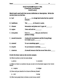 Social Studies Test