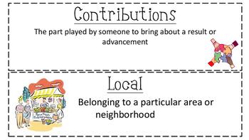 Social Studies Vocabulary Word Wall Cards - Economics, Com
