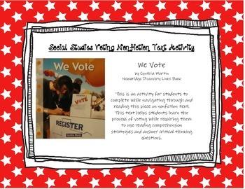 Social Studies Voting Informational Text Activity