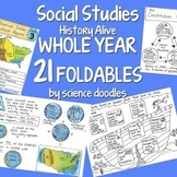 Social Studies WHOLE YEAR 21 Interactive Notebook Foldable