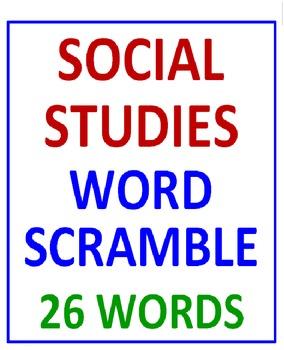 Social Studies Word Scramble (A Thinking Activity)