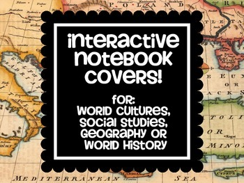 Social Studies, World Cultures Interactive Notebook Covers