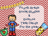Social Studies and Science Task Cards for the Year! (Fourt