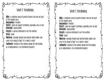 Social Studies weekly week 5 vocabulary