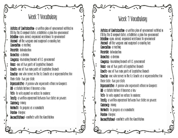 Social Studies weekly week 7 vocabulary