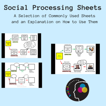 Social Skills: Social processing sheet; A selection of exa