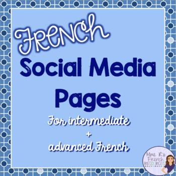 French social media page project/ une activité de média social