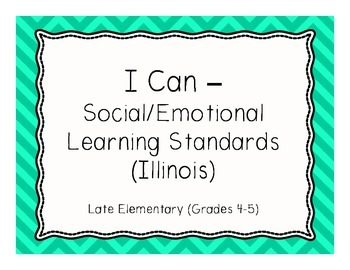 Social/Emotional I Can Statements - Upper Elementary
