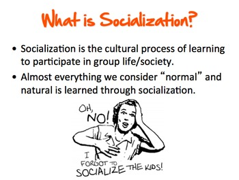 """Socialization: Roles, 3 Perspectives, and """"How to Be Me"""" P"""