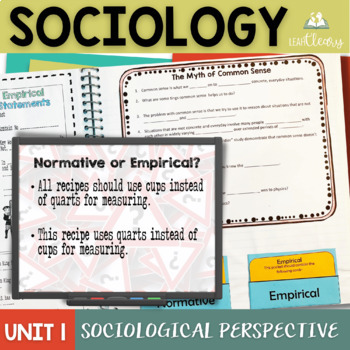 Sociological Perspectives Interactive Notebook Bundle