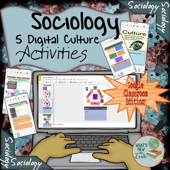 Sociology of Culture Activities For Google Classroom and OneDrive