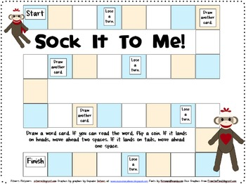 Sock It To Me Games for Fifth 100 Fry Words
