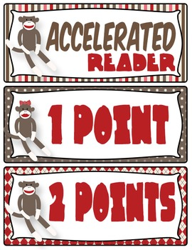 Sock Monkey Accelerated Reader Chart