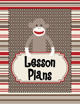 Sock Monkey Binder Covers and Spines