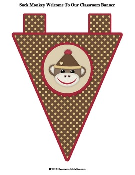 Sock Monkey Classroom Banner