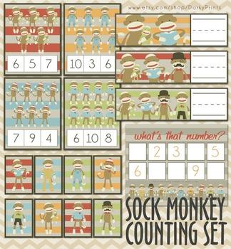 Sock Monkey Counting Activities