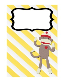 Sock Monkey Cover Page