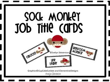 Sock Monkey Job Title Cards